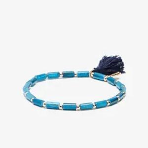 Express Blue Beaded Tassel Bracelet